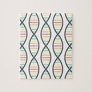 Rainbow DNA Strands Jigsaw Puzzle