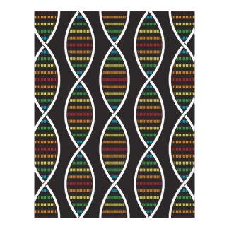 Rainbow DNA Strands Letterhead