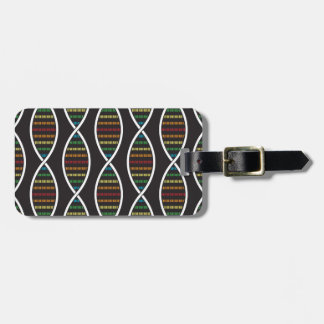Rainbow DNA Strands Luggage Tag