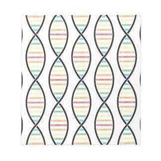 Rainbow DNA Strands Notepad
