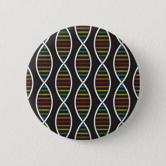 Rainbow DNA Strands Pinback Button
