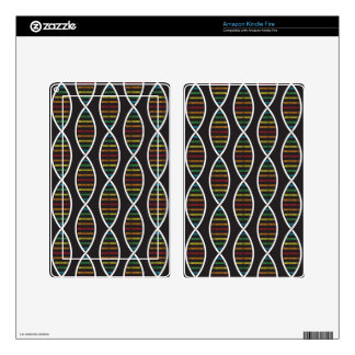 Rainbow DNA Strands Skin For Kindle Fire