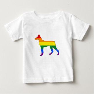 Rainbow Doberman Baby T-Shirt