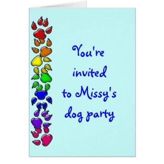 rainbow dog print card