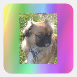 Rainbow Doggie Sticker