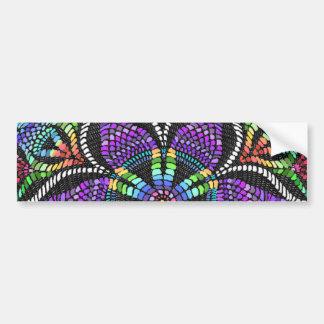 Rainbow Doily Mosaic Bumper Sticker