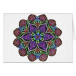 Rainbow Doily Mosaic Card