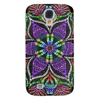 Rainbow Doily Mosaic Samsung Galaxy S4 Case