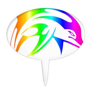 Rainbow Dolphin Cake Topper