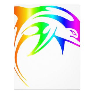 Rainbow Dolphin Letterhead