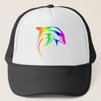 Rainbow Dolphin Trucker Hat