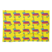 Rainbow Donkey Piñata Fiesta Birthday Party Pride Kitchen Towel