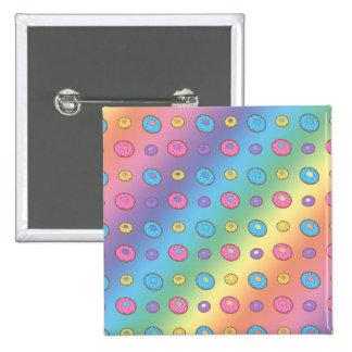 Rainbow donut pattern buttons