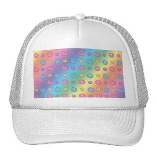 Rainbow donut pattern trucker hat
