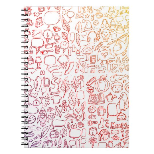 Rainbow Doodle Notepad Spiral Notebook