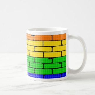 Rainbow Dot Matrix Coffee Mug
