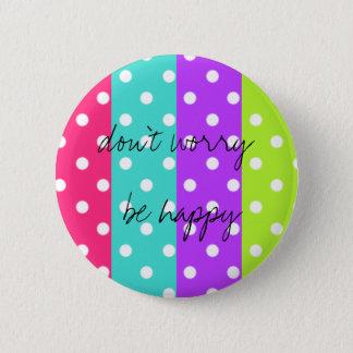 rainbow dot pinback button