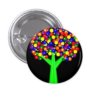 Rainbow Dotberry Tree 1 Inch Round Button