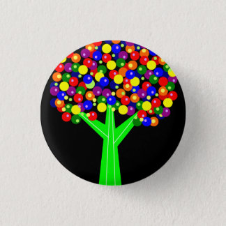 Rainbow Dotberry Tree Pinback Button