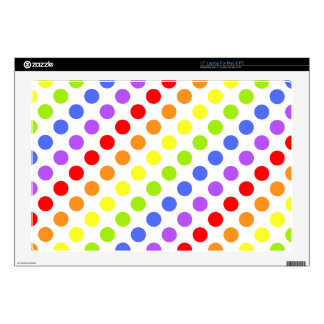 "Rainbow Dots 17"" Laptop Skins"