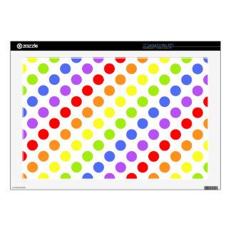 "Rainbow Dots 17"" Laptop Skins"