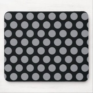 Rainbow Dots Collection - Black Grey Mouse Pad