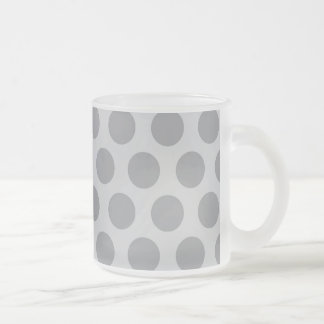 Rainbow Dots Collection - Grey 2 Frosted Glass Coffee Mug