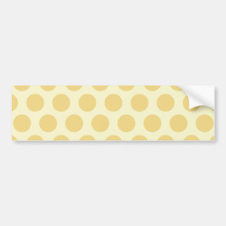 Rainbow Dots Collection - Light Yellow Bumper Sticker