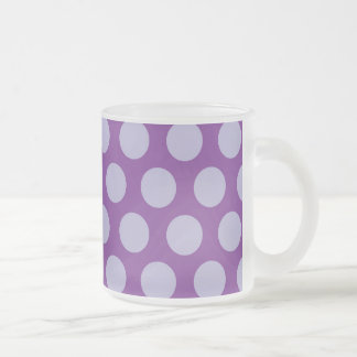 Rainbow Dots Collection - Purple 1 Frosted Glass Coffee Mug