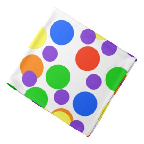 Rainbow Dots Colorful Bandana For People & Pets