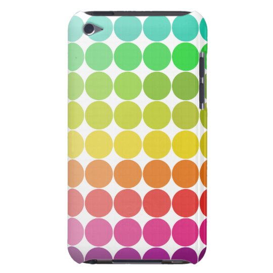 Rainbow Dots iPod Touch Case
