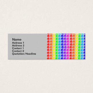 rainbow dots mini business card