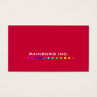 Rainbow Dots on Red Business Card