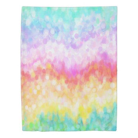 Rainbow Dots Pastel Twin Duvet Cover