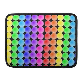 Rainbow dots Rickshaw Sleeve For MacBooks