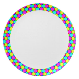 Rainbow Dots w/ White Center Plate