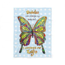 Rainbow Dotted Diabetes My Life Butterfly Blanket