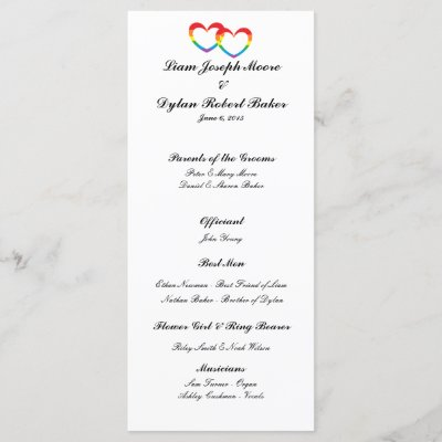 two hearts wedding programs zazzle com