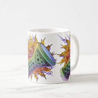Rainbow Doumbek Belly Dance Coffee Mug