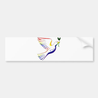 Rainbow Dove Bumper Sticker