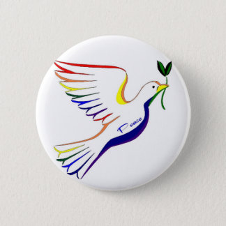 Rainbow Dove Button