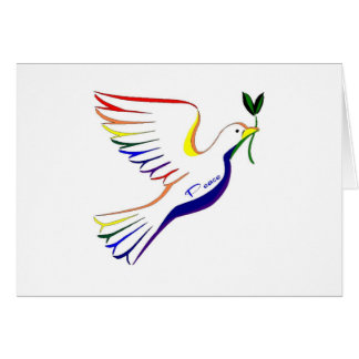 Rainbow Dove Card
