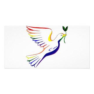 Rainbow Dove Card