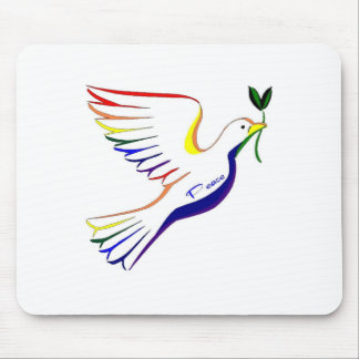 Rainbow Dove Mouse Pad