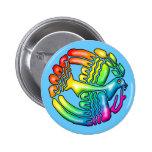 Rainbow Dove of Peace Button