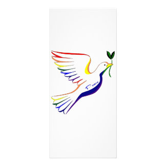 Rainbow Dove Rack Card