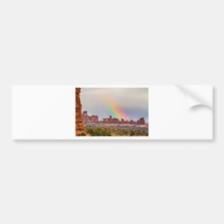 Rainbow Down Car Bumper Sticker