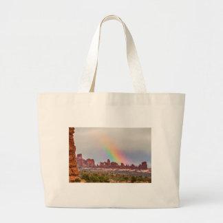 Rainbow Down Large Tote Bag