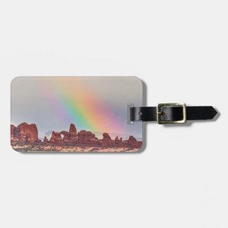 Rainbow Down Luggage Tag