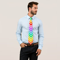 Rainbow Down Neck Tie
